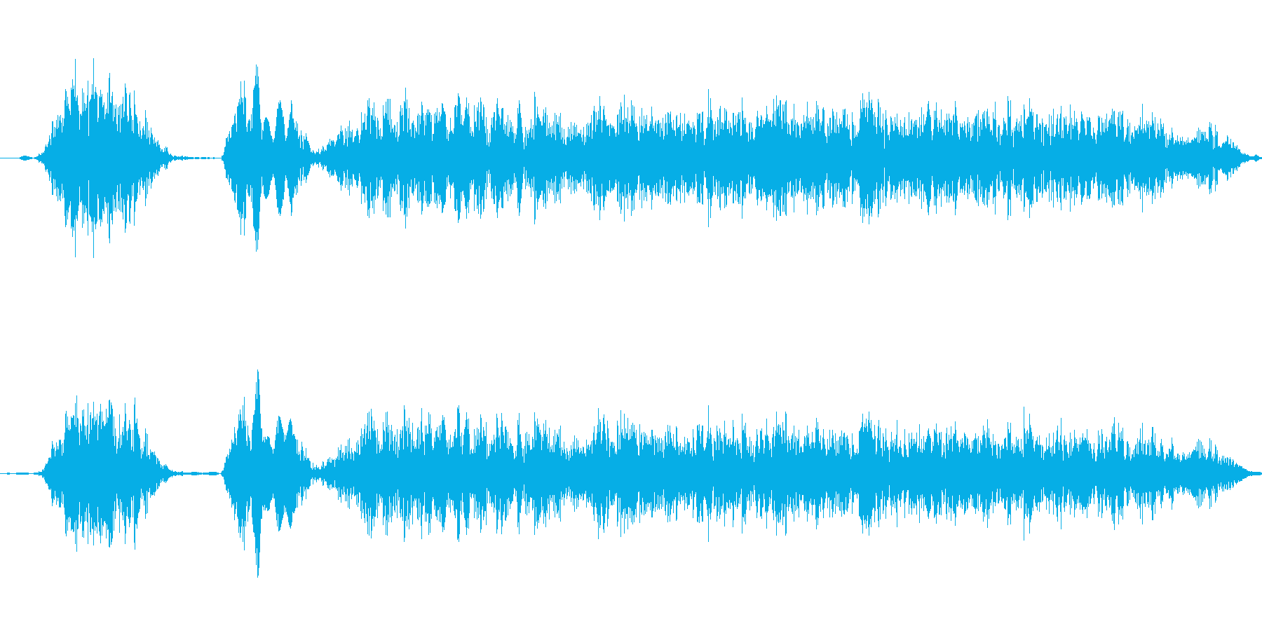 コケコッコー 鶏の鳴き声の再生済みの波形