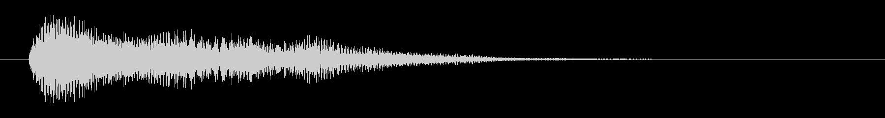 不安、奇妙な雰囲気のシンセベルのジングルの未再生の波形