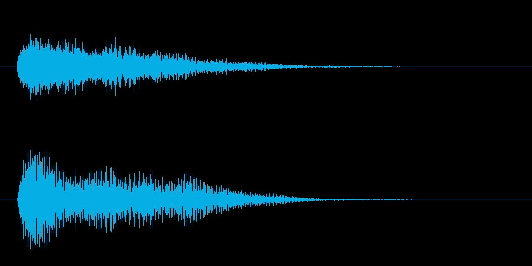 不安、奇妙な雰囲気のシンセベルのジングルの再生済みの波形