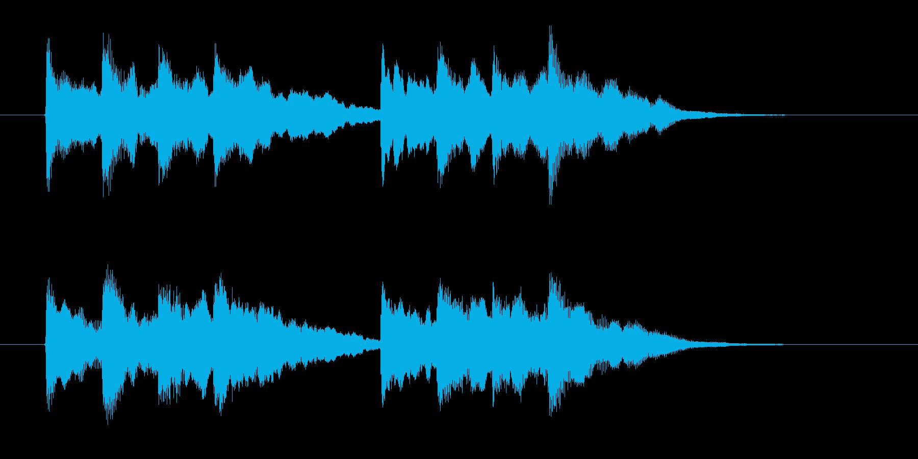 シンプルで煌びやかなポップ音階ジングルの再生済みの波形