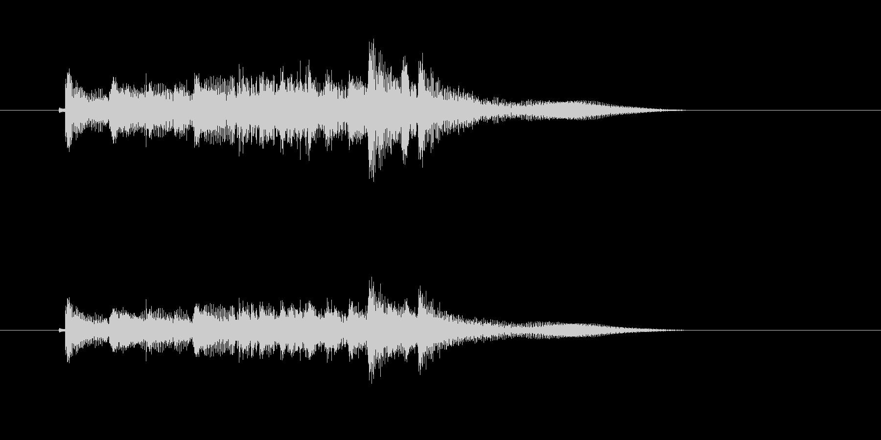 ギターによるメロディーのワンフレーズの未再生の波形