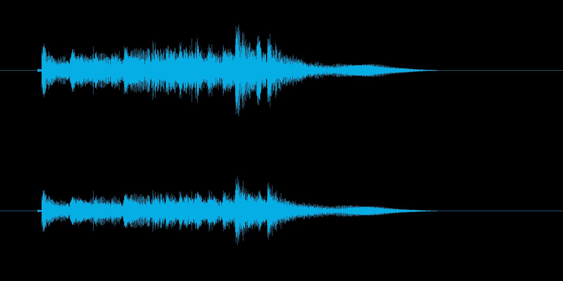 ギターによるメロディーのワンフレーズの再生済みの波形