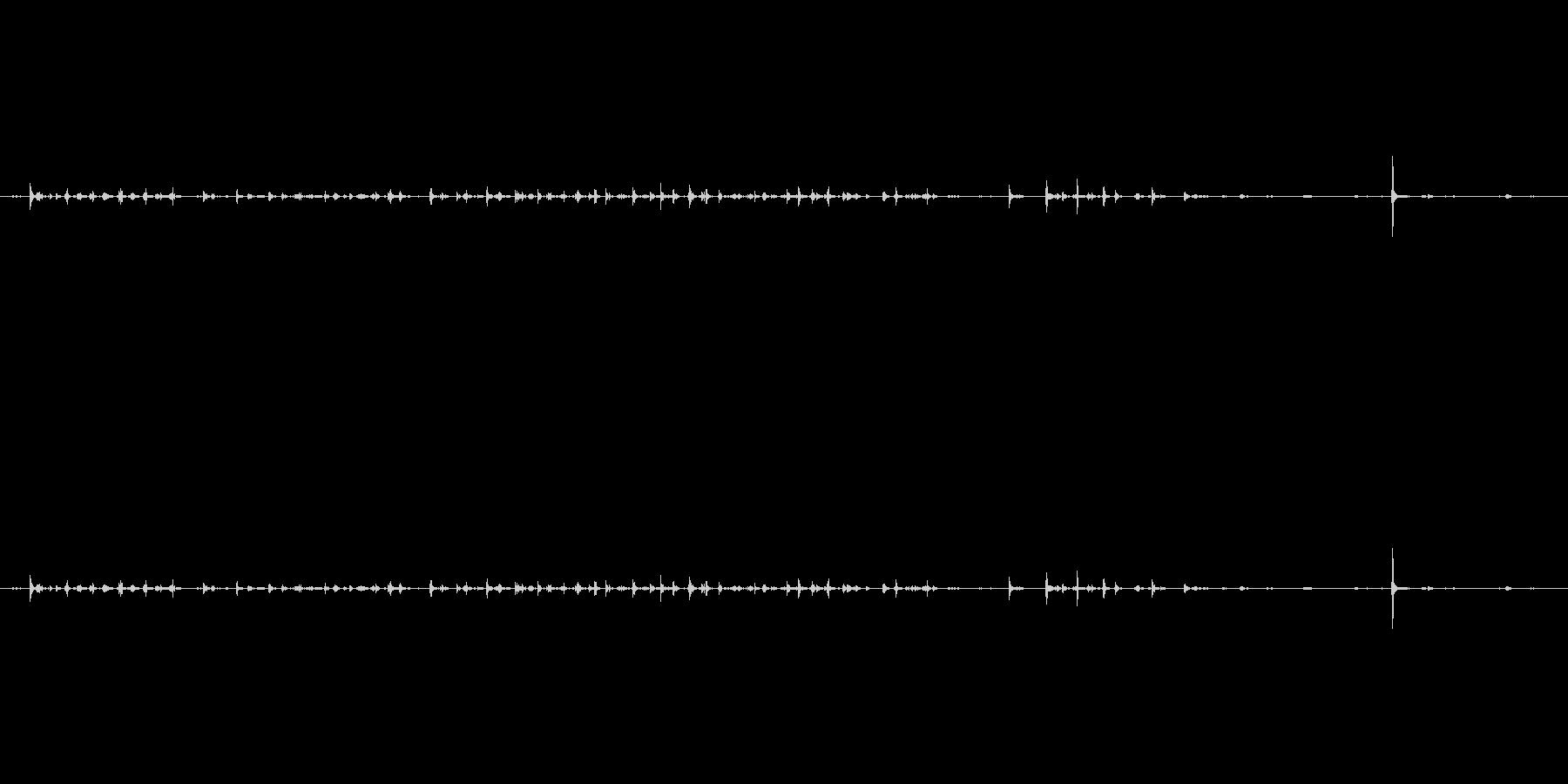 キーボードをタイピングしたときの音ですの未再生の波形