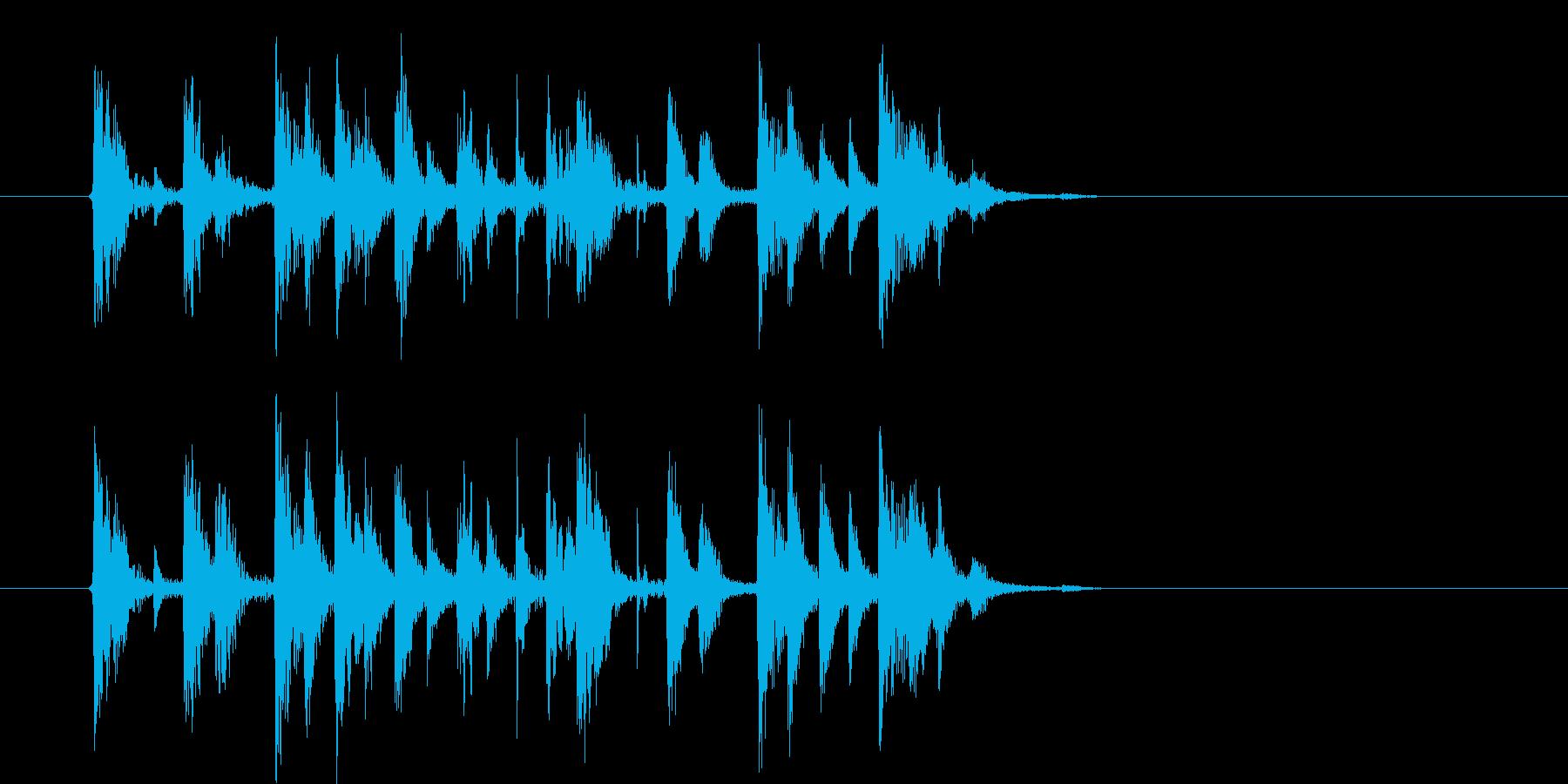 浮遊感があるポップなエレクトロニカの再生済みの波形