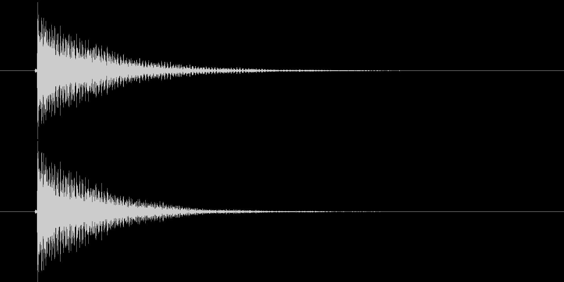 デーン(決定音)の未再生の波形
