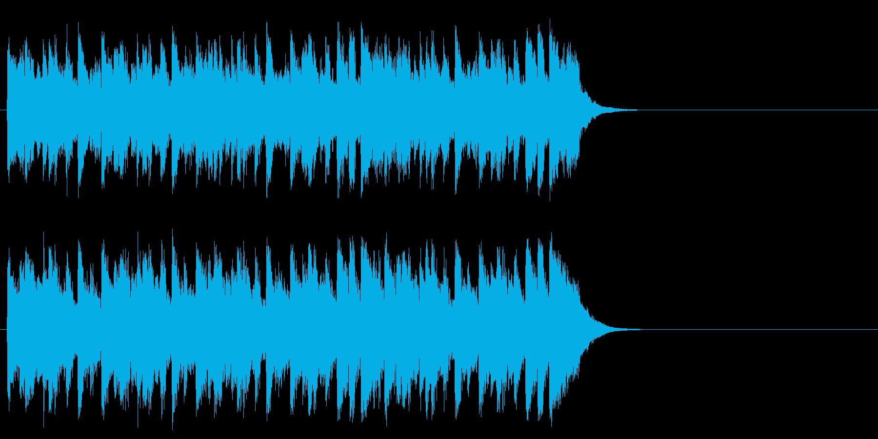陽気なカントリー風ポップ(サビ)の再生済みの波形