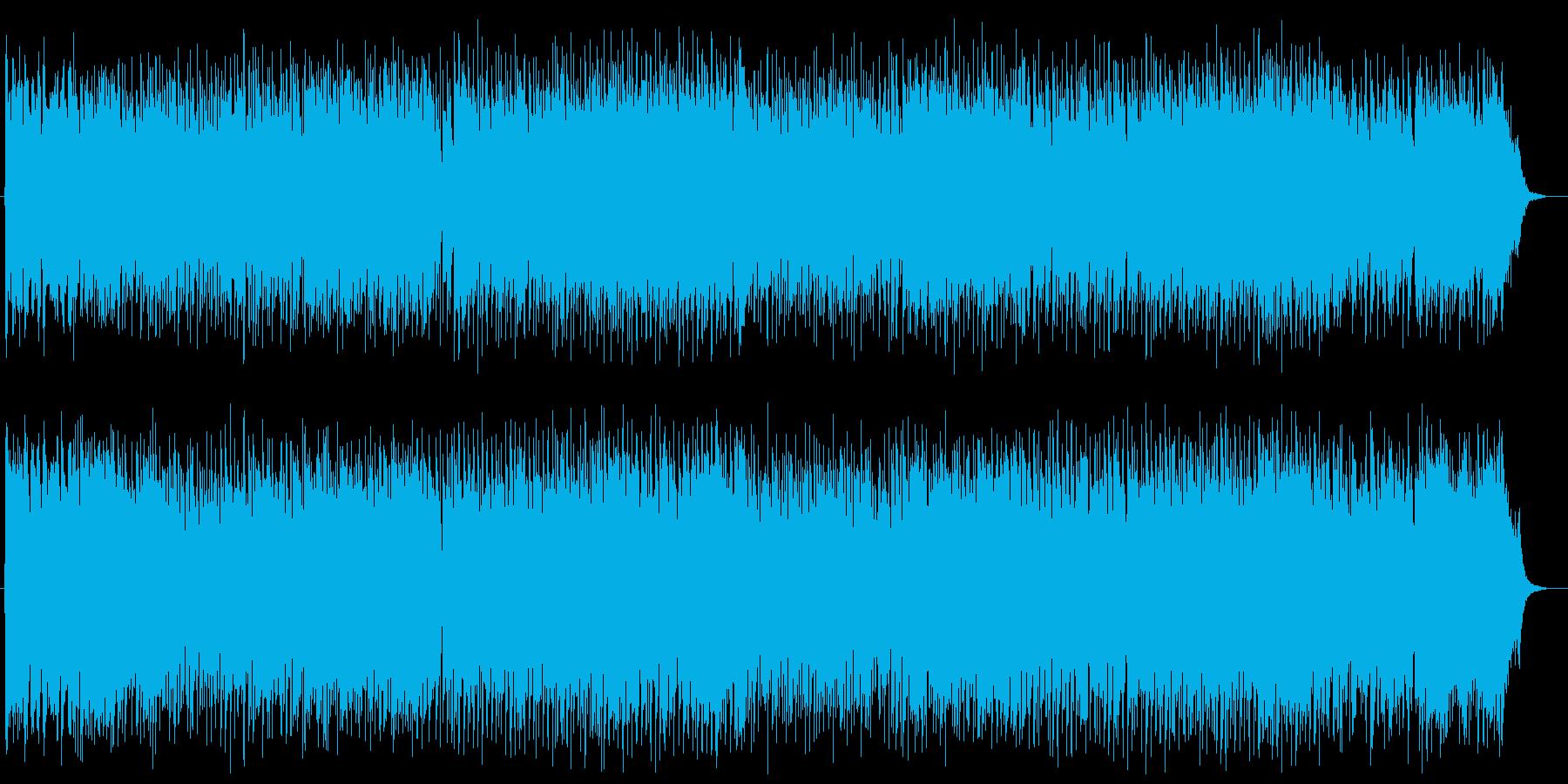 親しみやすいメロディの王道青春ポップスの再生済みの波形