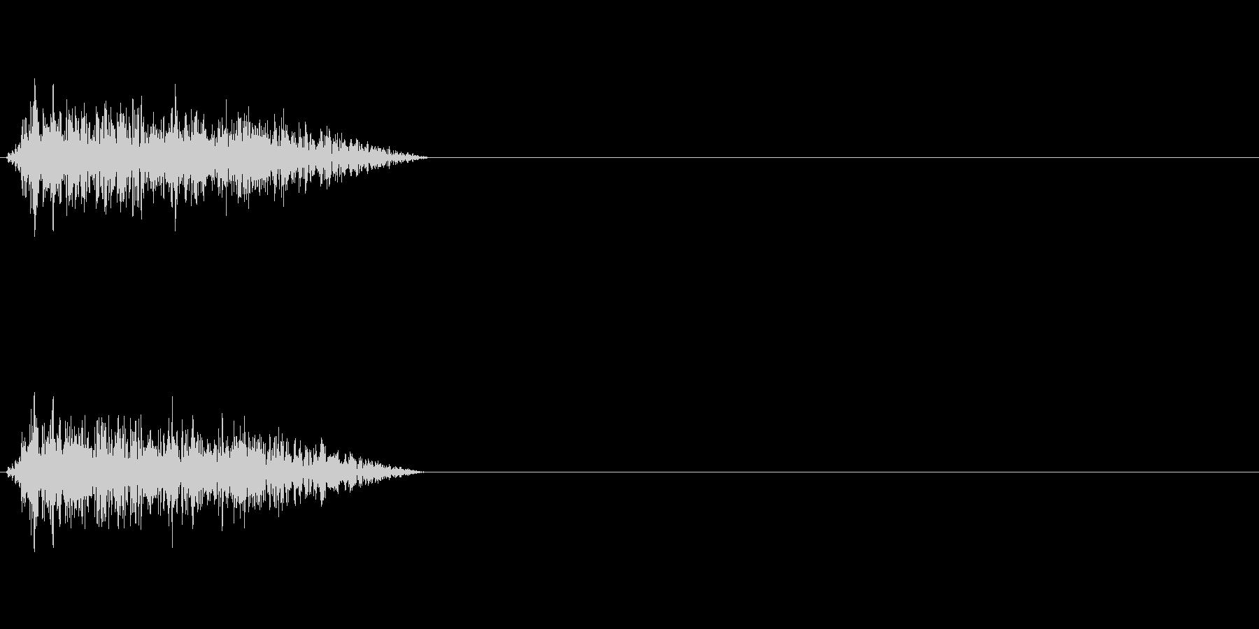 シャー 斬撃 風切り音の未再生の波形
