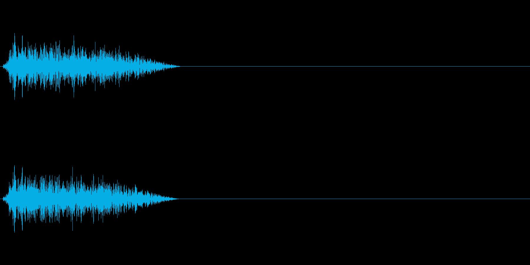 シャー 斬撃 風切り音の再生済みの波形