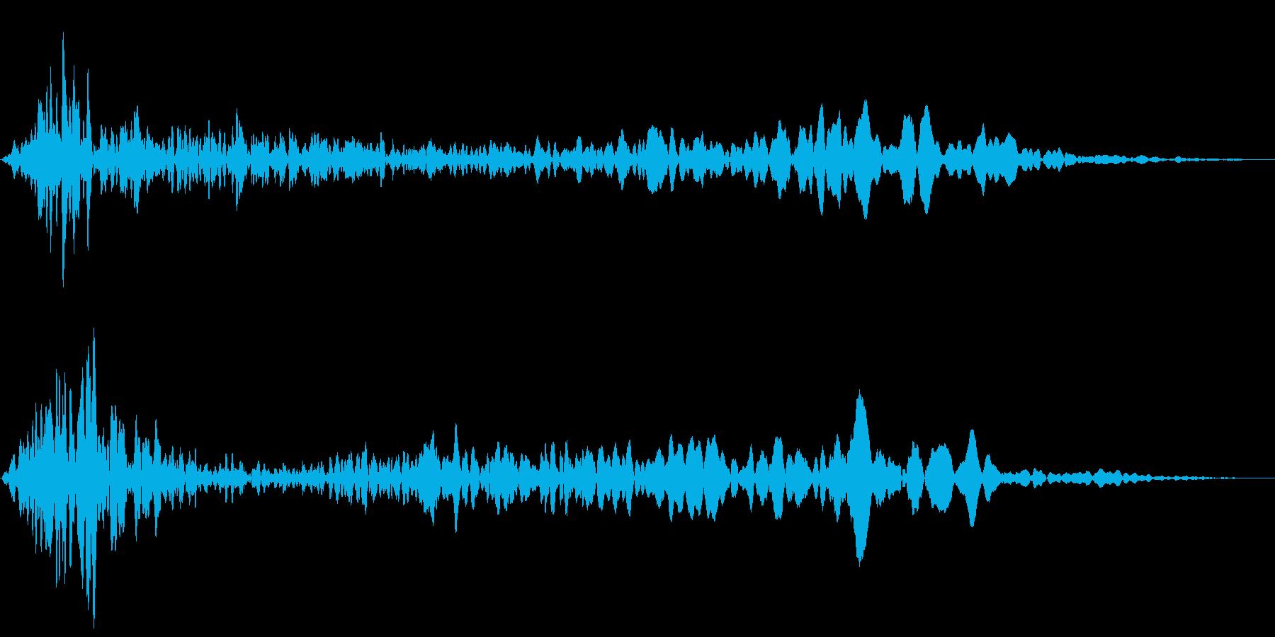 ヒュールル(風の音)の再生済みの波形