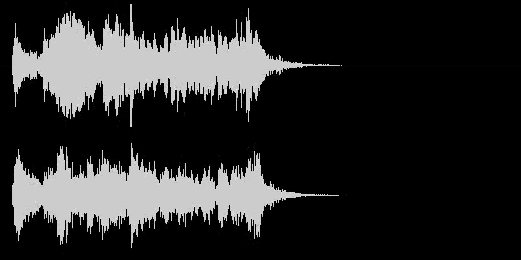 ストリングスとマリンバのジングルの未再生の波形