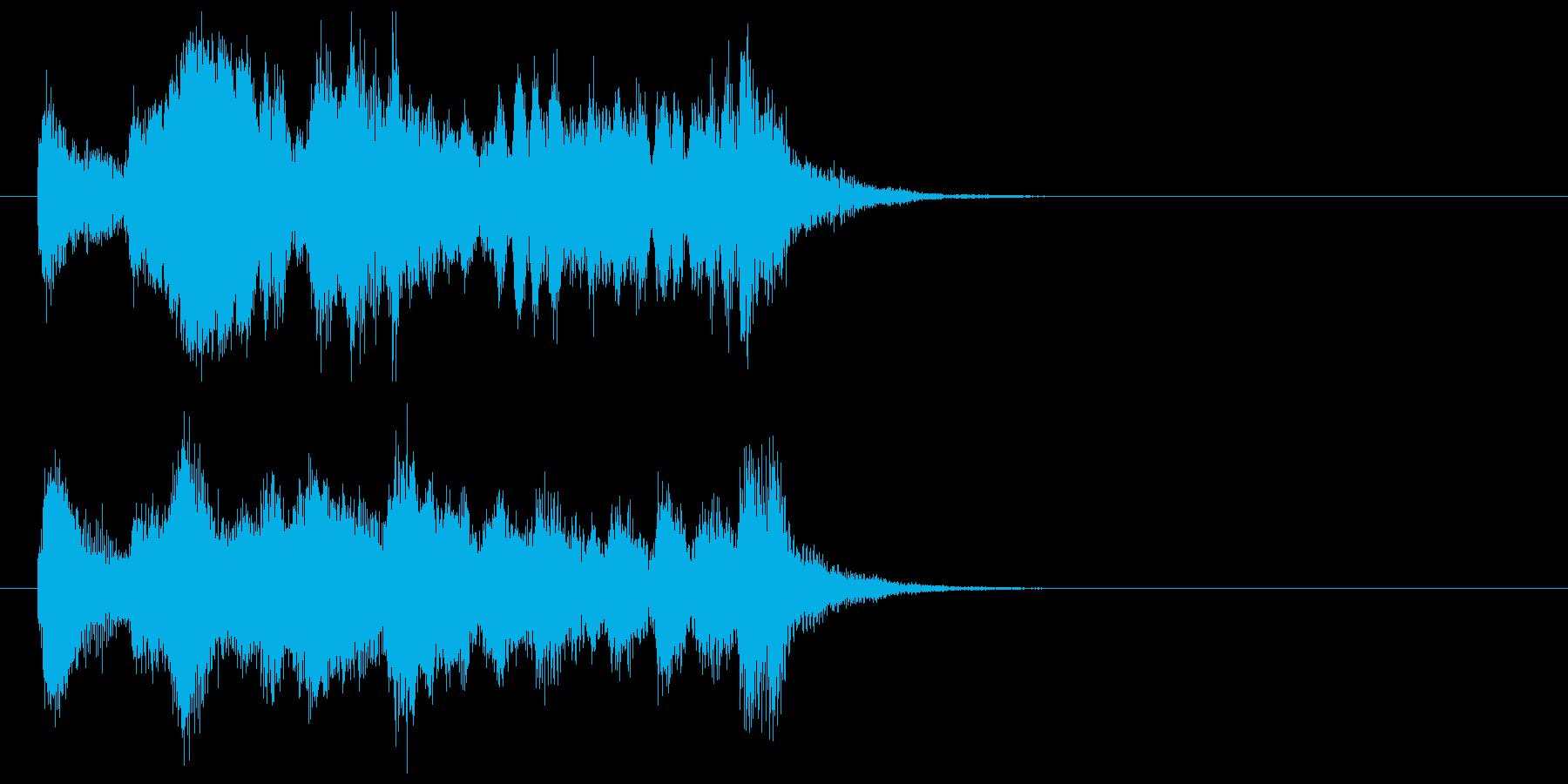ストリングスとマリンバのジングルの再生済みの波形