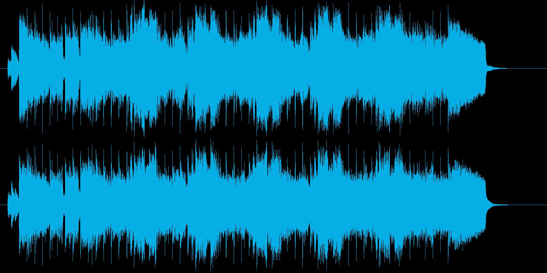爽やかでポップなロックバンドのジングルの再生済みの波形