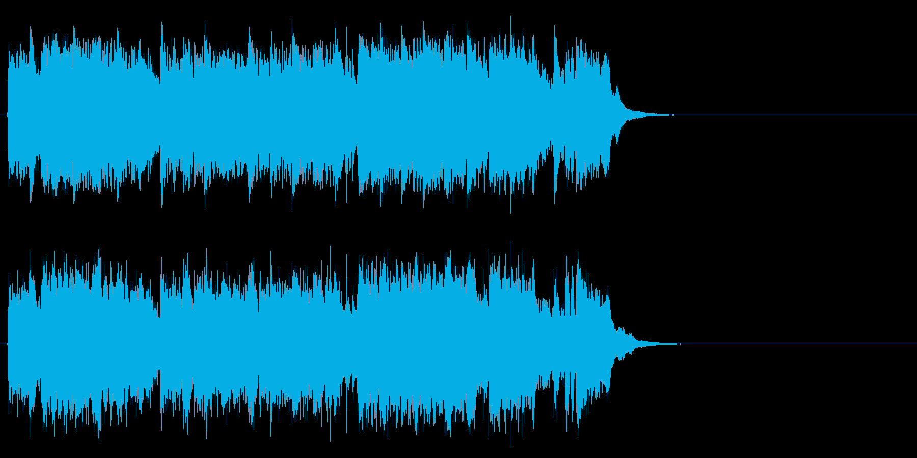 感動的で軽やかなポップ(サビ)の再生済みの波形