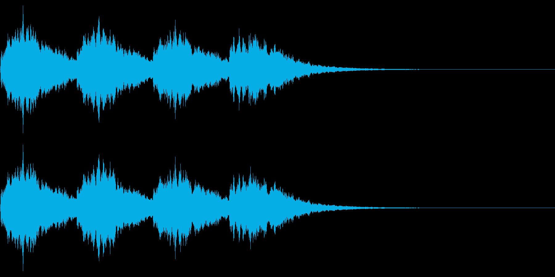 長めのキラキラの再生済みの波形