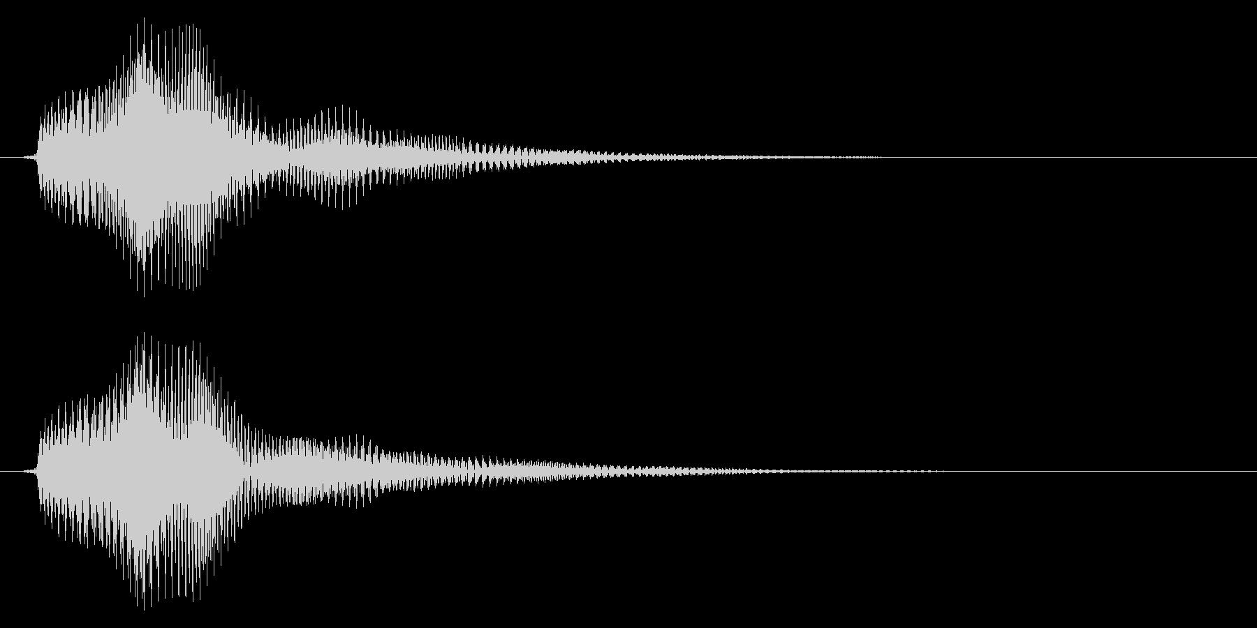 ベル/決定音/優しいの未再生の波形