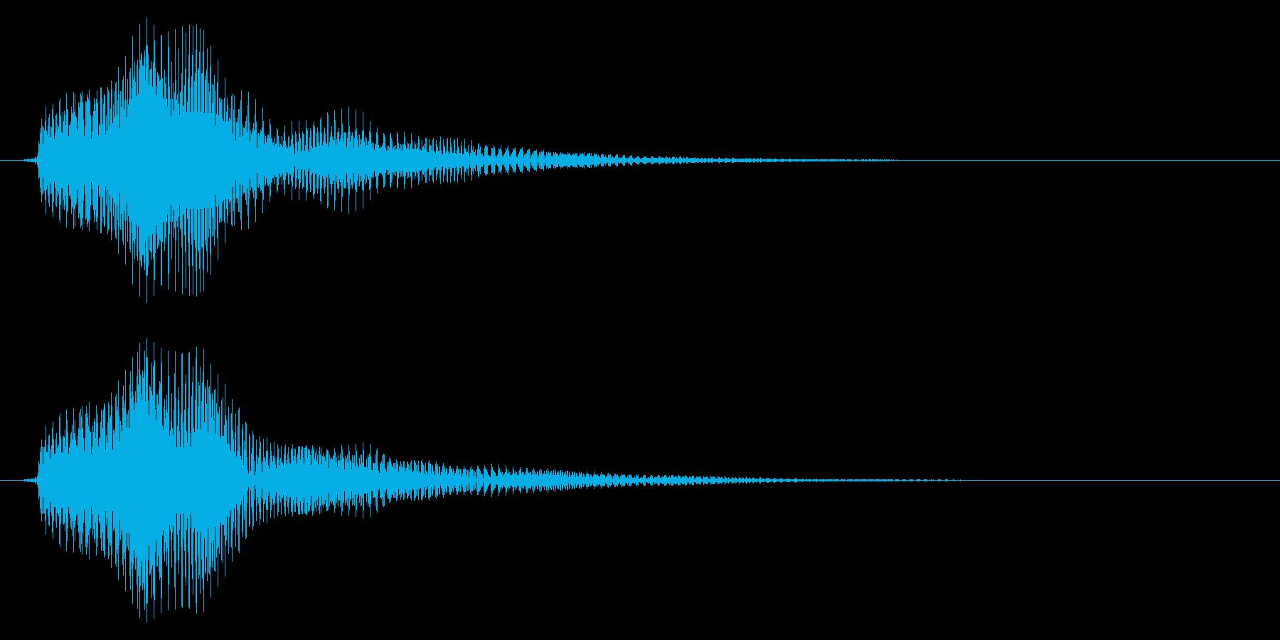 ベル/決定音/優しいの再生済みの波形