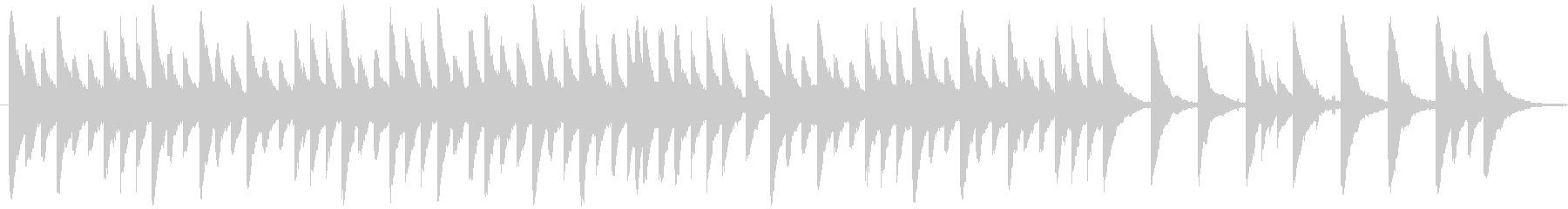 ホラー風なオルゴール曲の未再生の波形