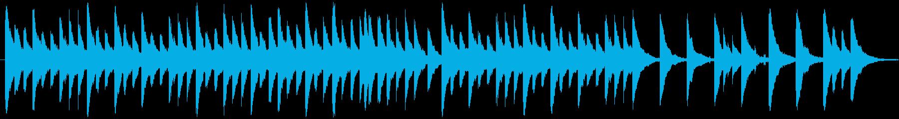 ホラー風なオルゴール曲の再生済みの波形