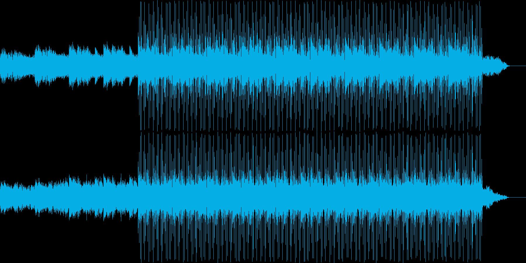 ホラーな雰囲気で怖いBGMの再生済みの波形