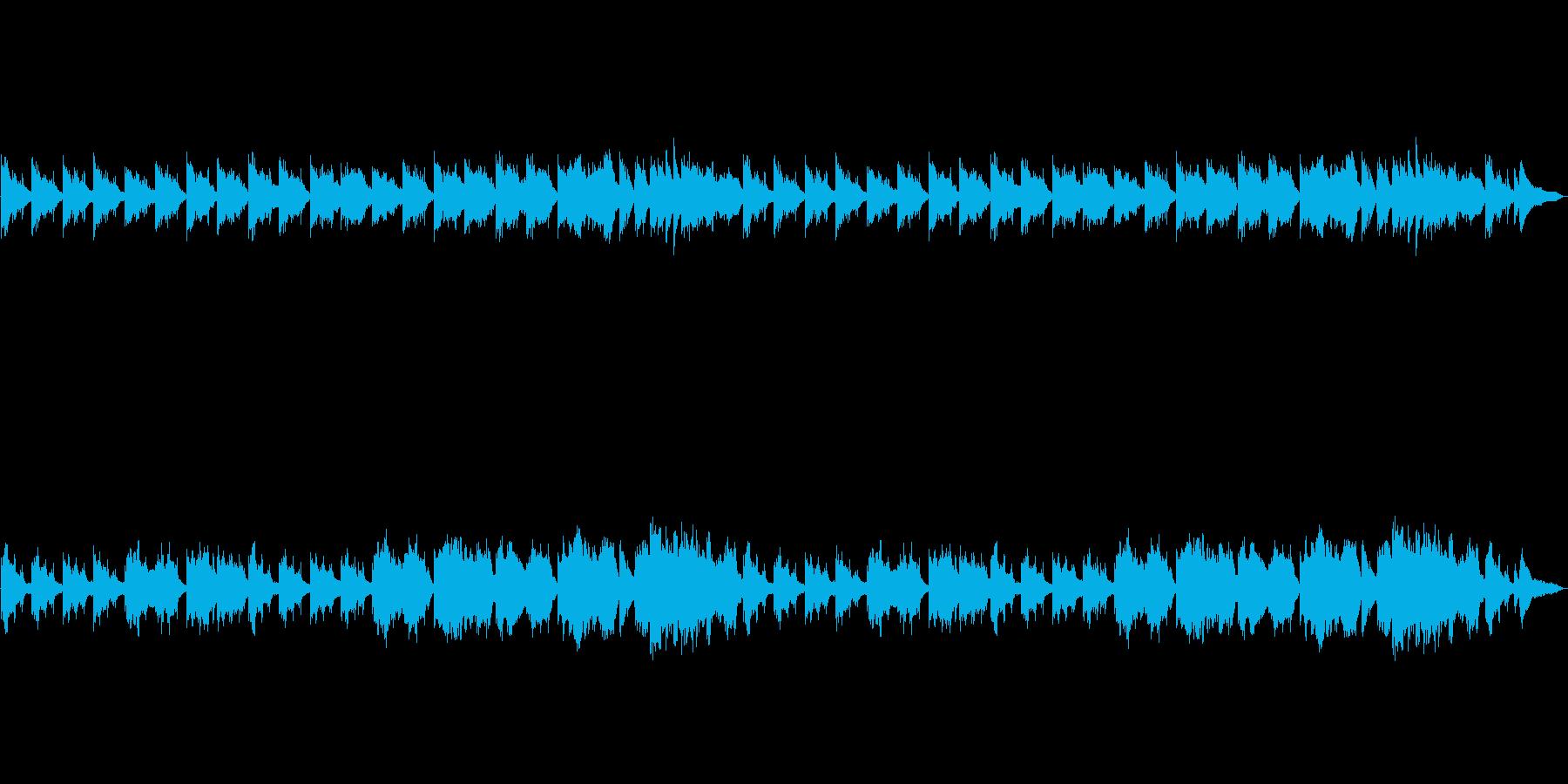 憂鬱で悲しいピアノとストリングスの曲の再生済みの波形