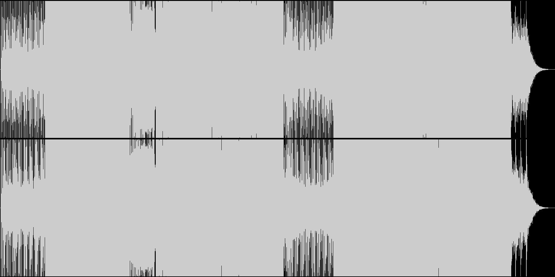攻撃シーンに合うクラシカルEDMの未再生の波形
