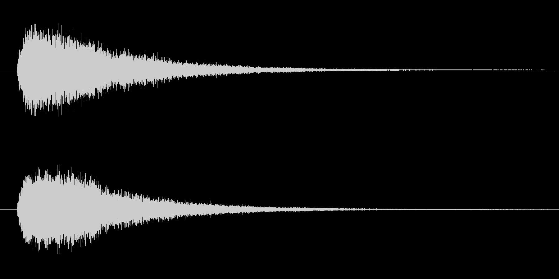 ドラの音 (1発)の未再生の波形