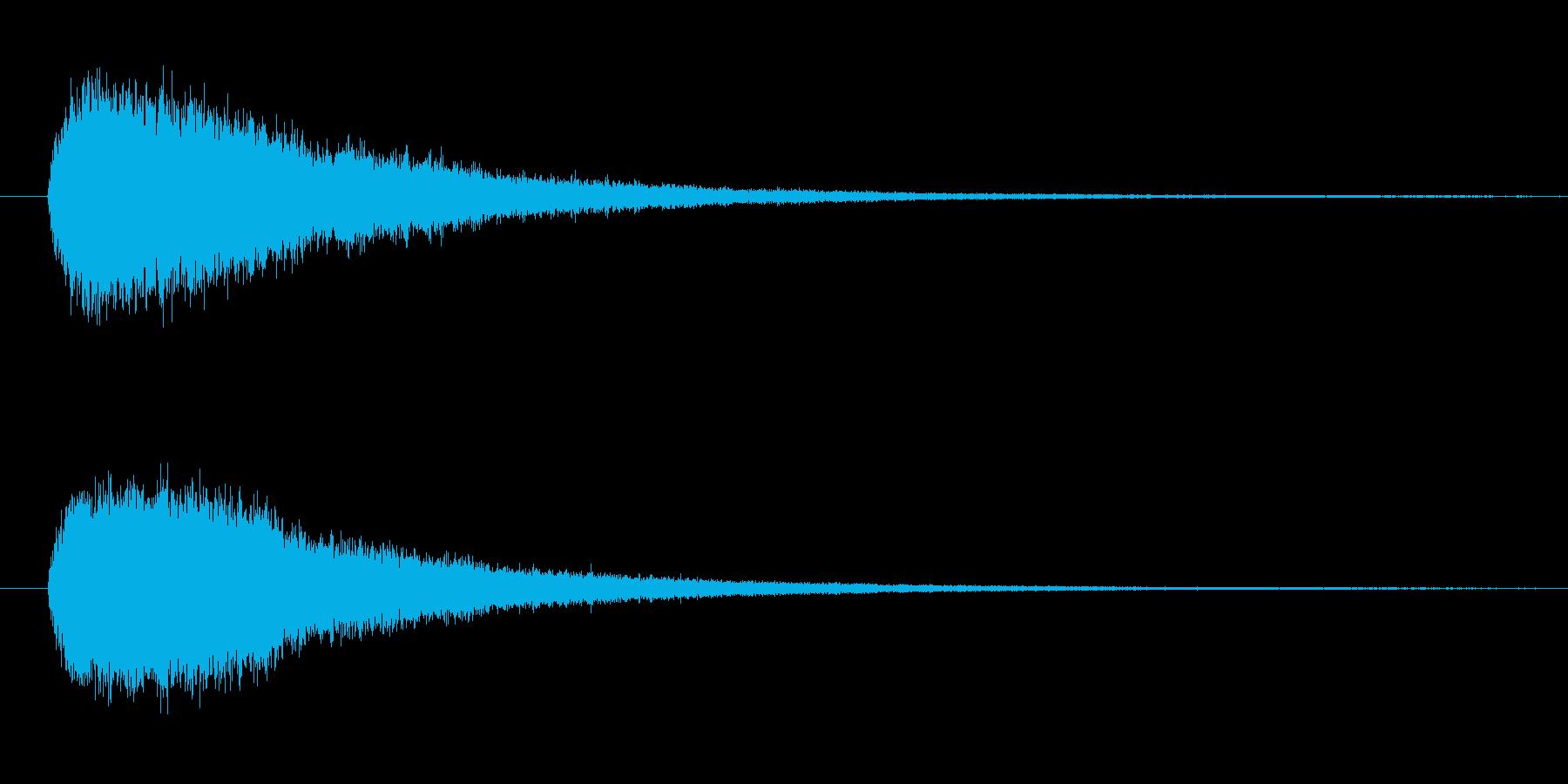ドラの音 (1発)の再生済みの波形