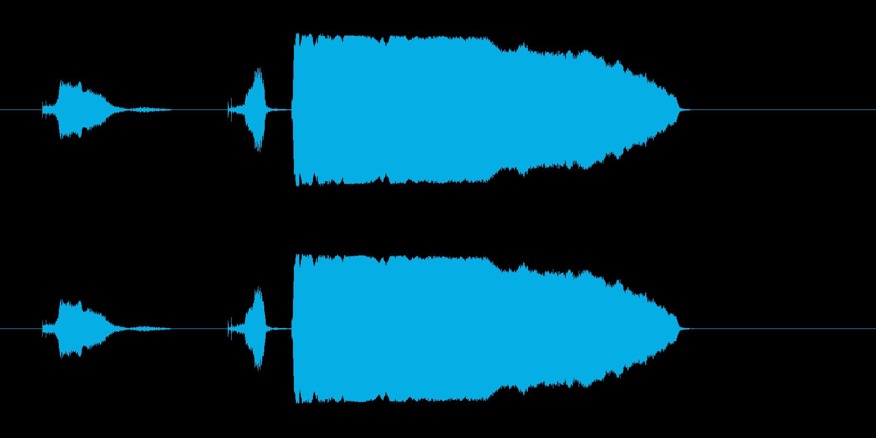 き、キター!の再生済みの波形