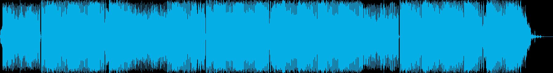 爽やかなBGMの再生済みの波形