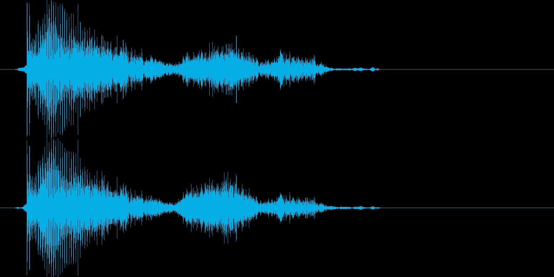 おかあさん・お母さん(2歳児の生声です)の再生済みの波形