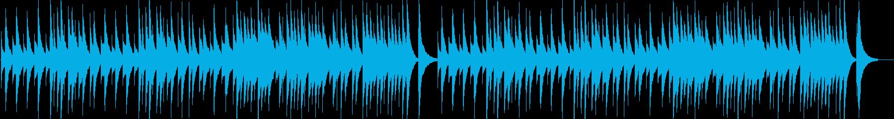 ジムノペディ第1番のオルゴール音源の再生済みの波形