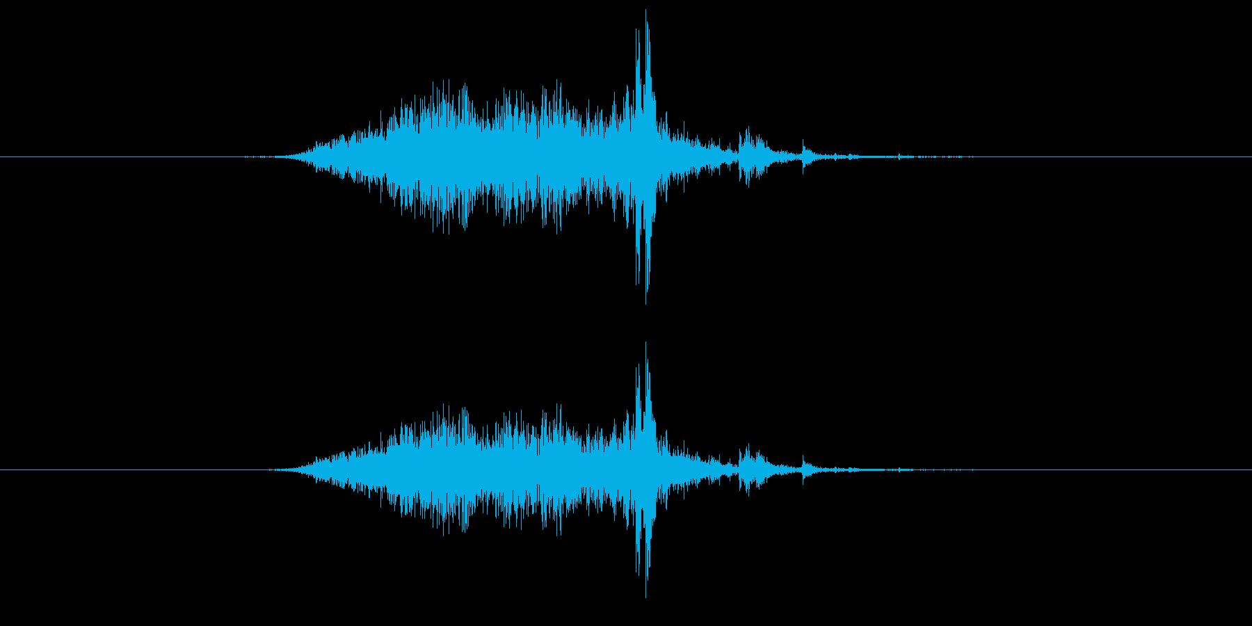シャーッ(カーテンを閉める)の再生済みの波形