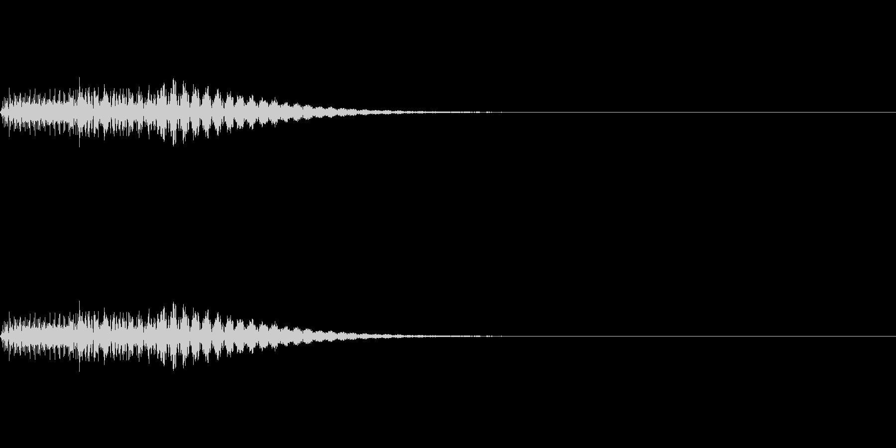 タララン(ピアノのエラー音)の未再生の波形