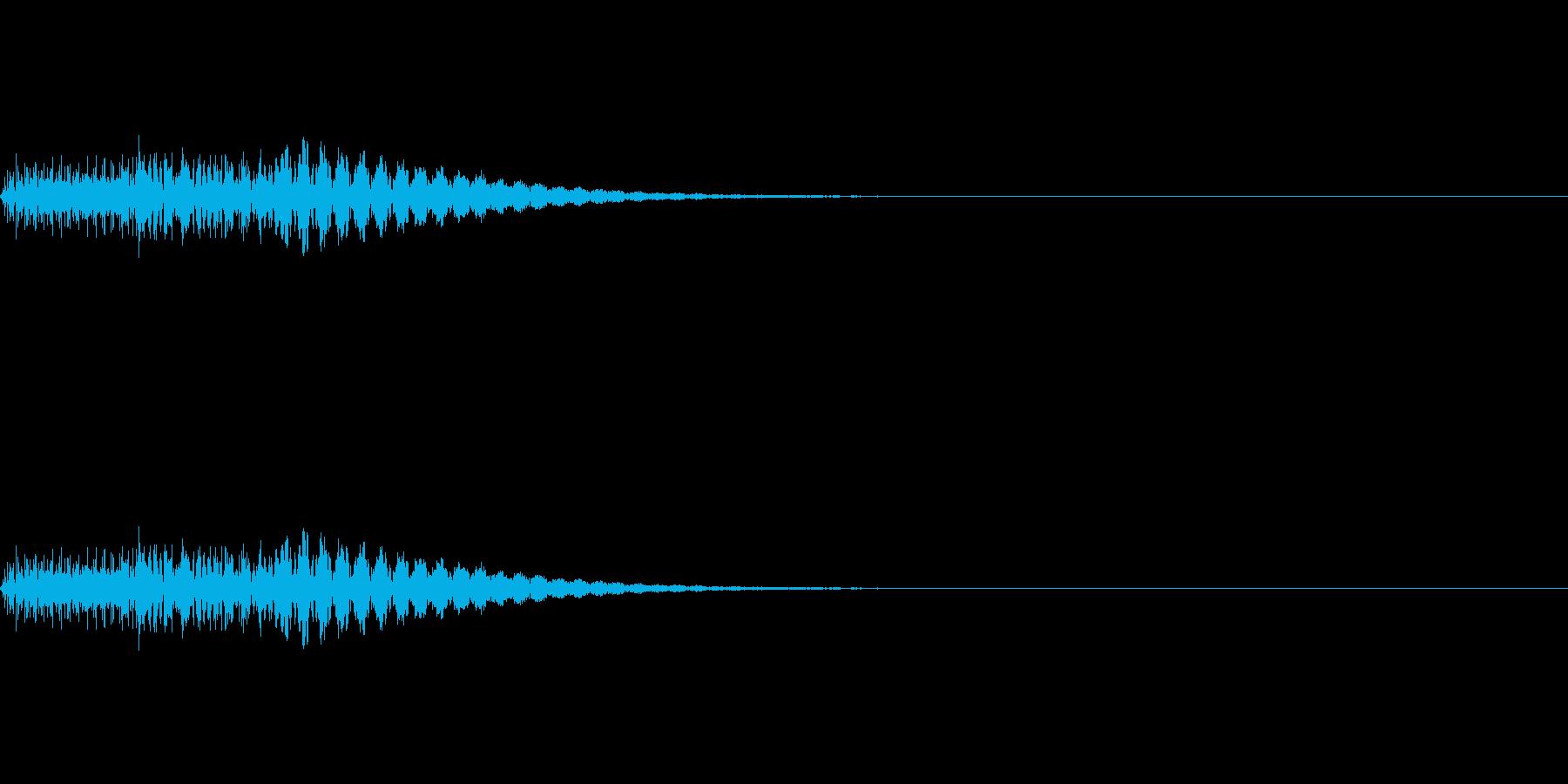 タララン(ピアノのエラー音)の再生済みの波形