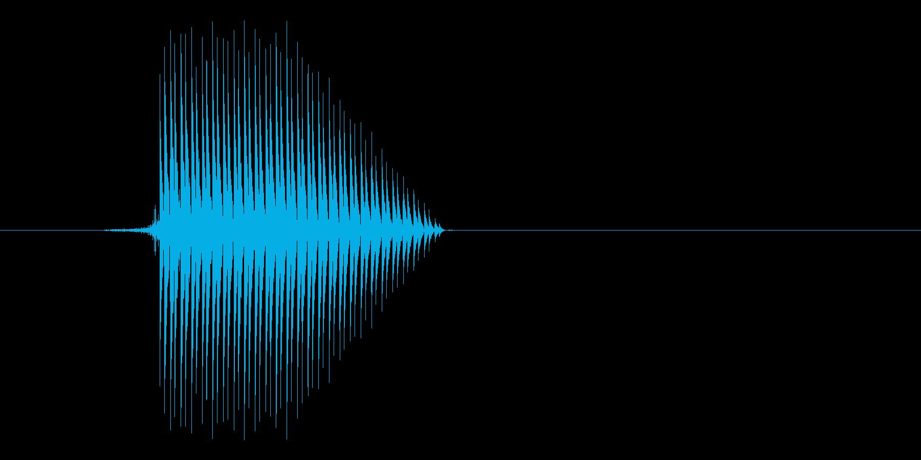 ゲーム(ファミコン風)セレクト音_013の再生済みの波形