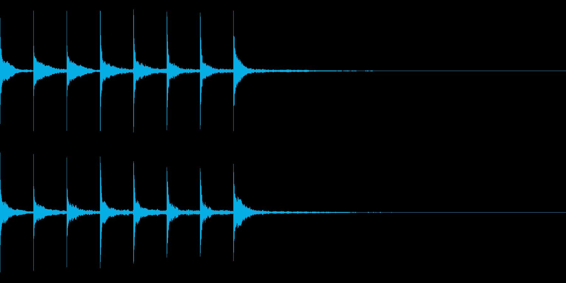 トントントントン・・・(上がり系)の再生済みの波形