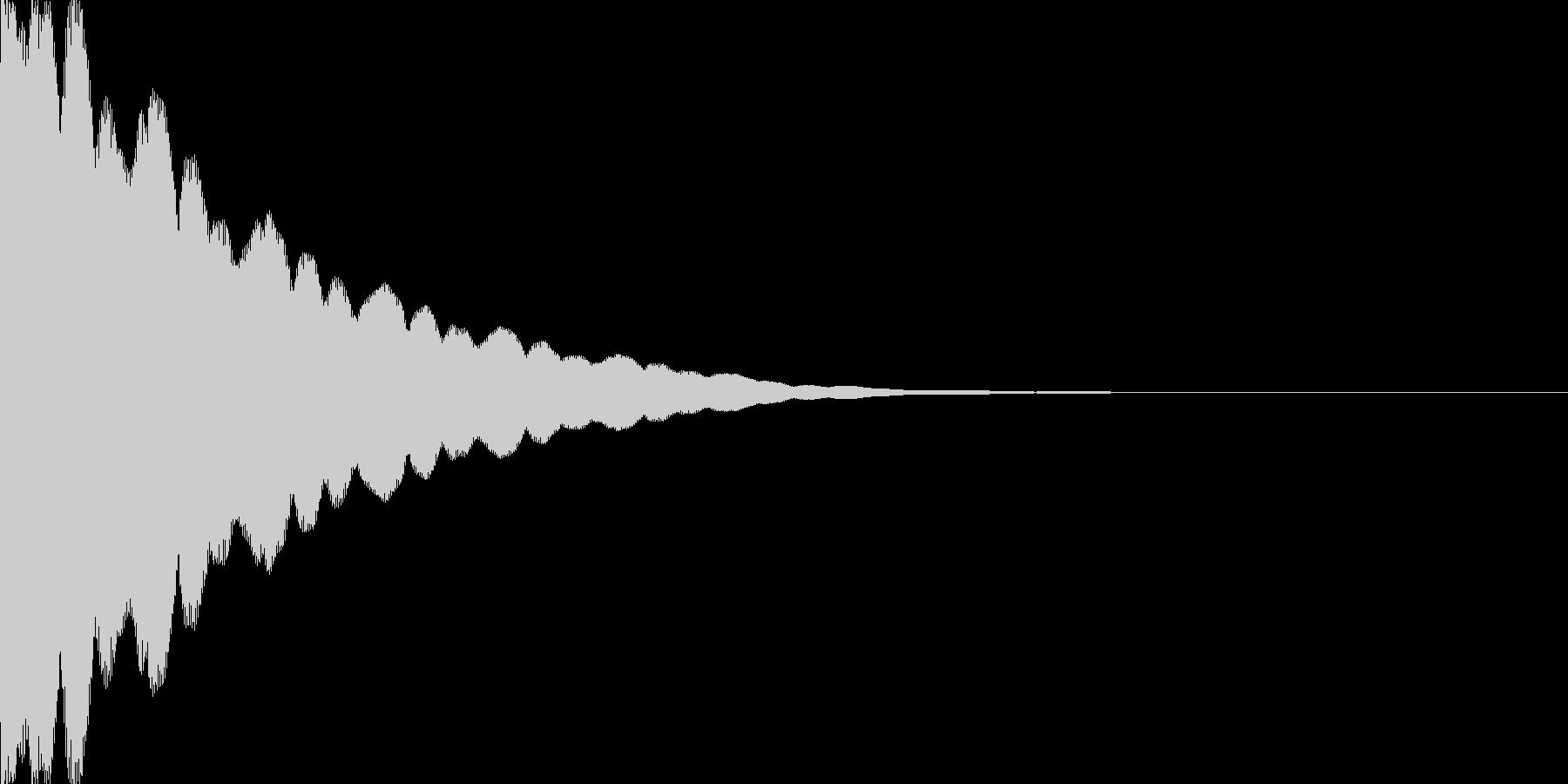 光イメージ音 キュピーン_03_モノの未再生の波形