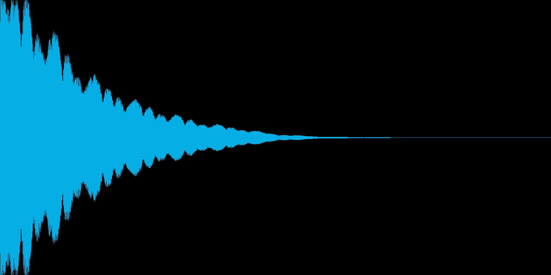 光イメージ音 キュピーン_03_モノの再生済みの波形