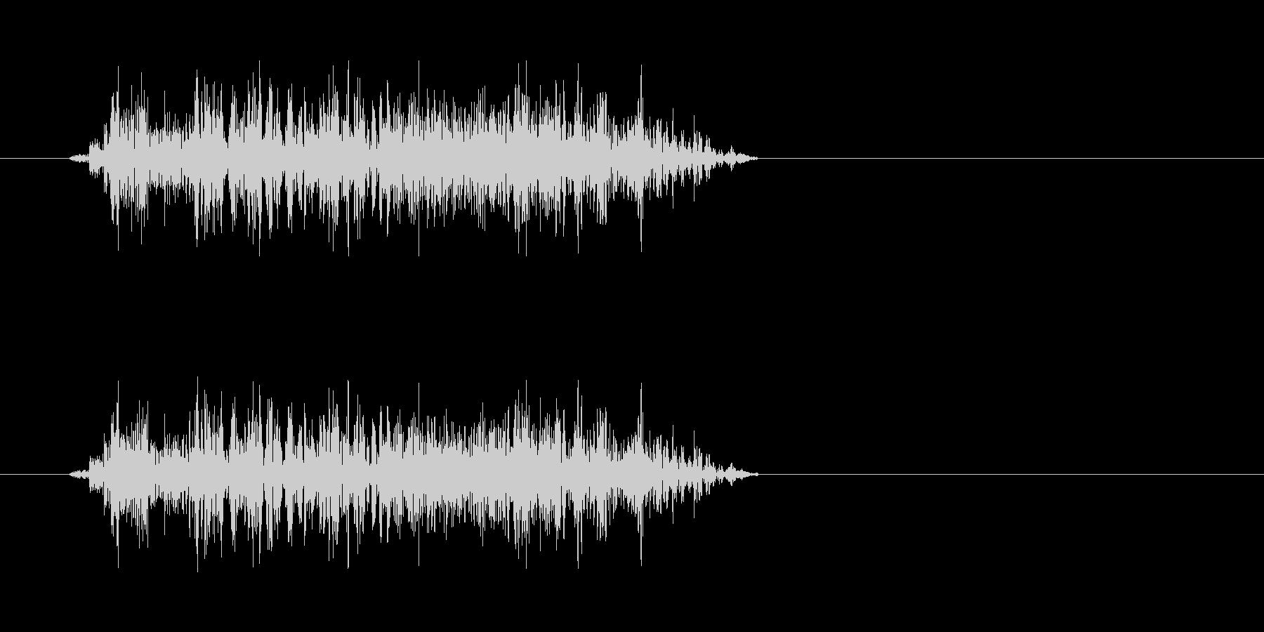 ゾンビの発声に 2(攻撃)の未再生の波形