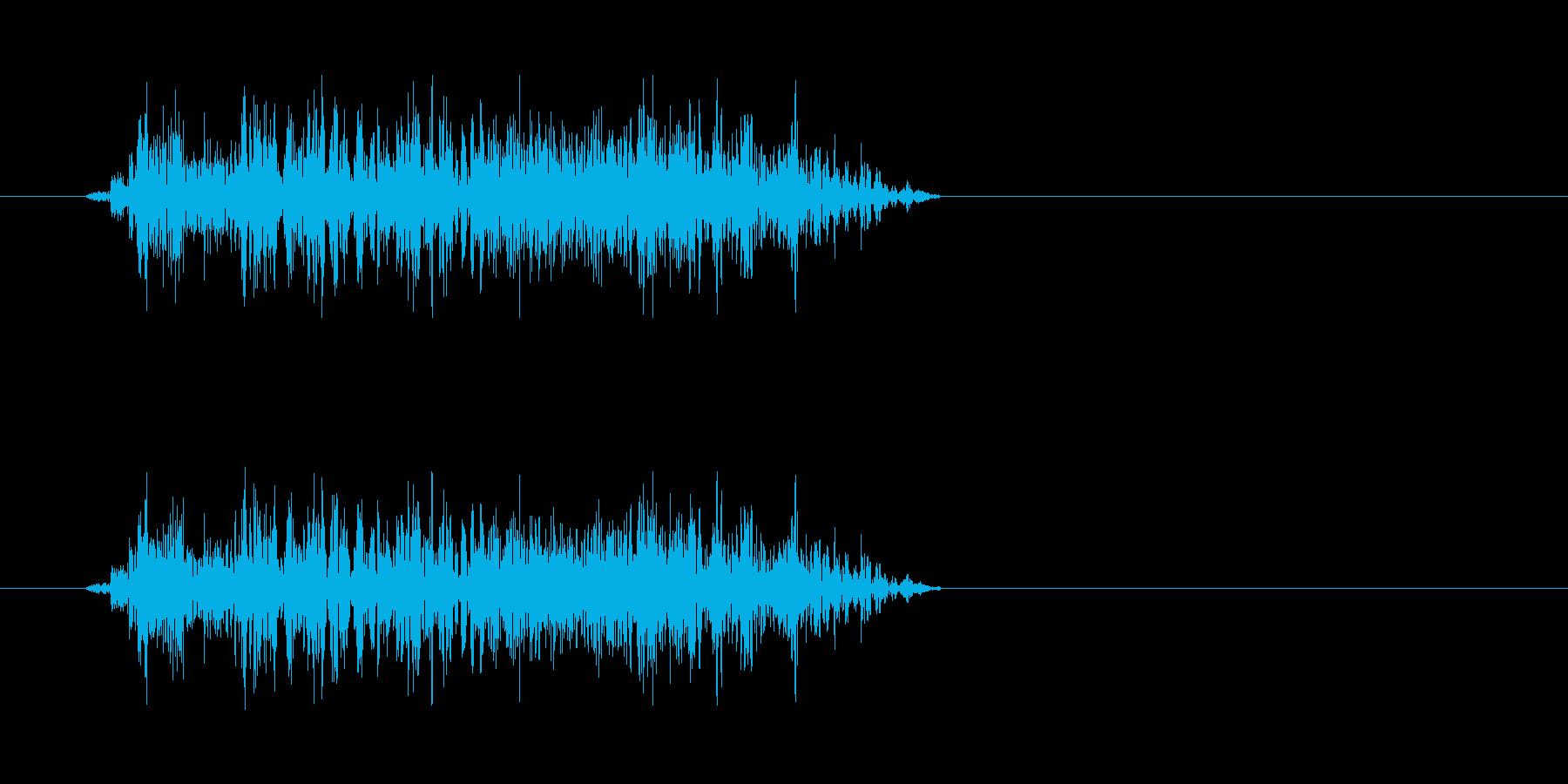 ゾンビの発声に 2(攻撃)の再生済みの波形