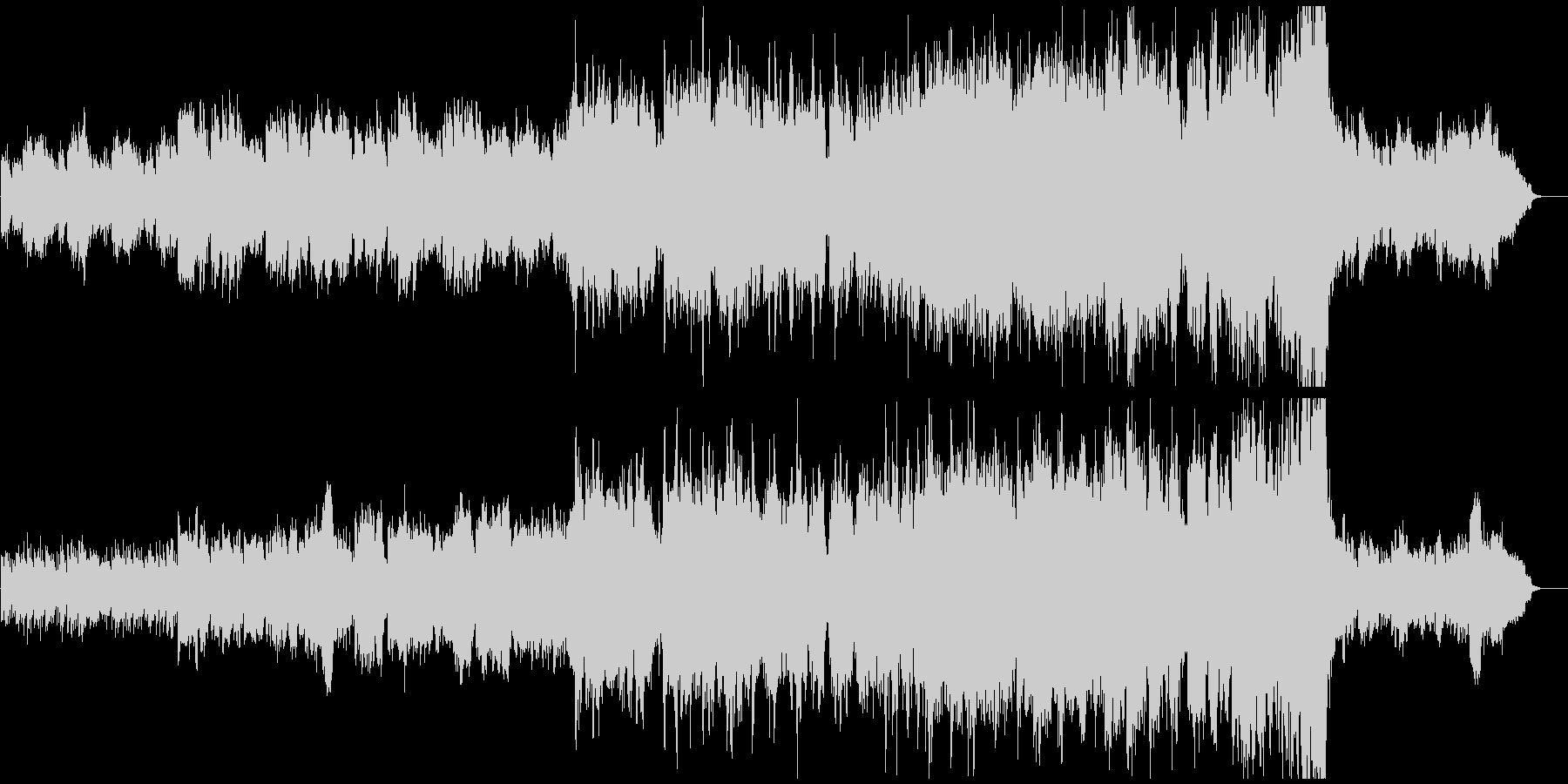 オーケストラ企業PV 前半静寂後半勇士の未再生の波形