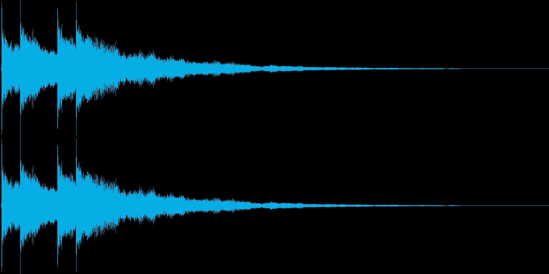 女子力アップの音の再生済みの波形