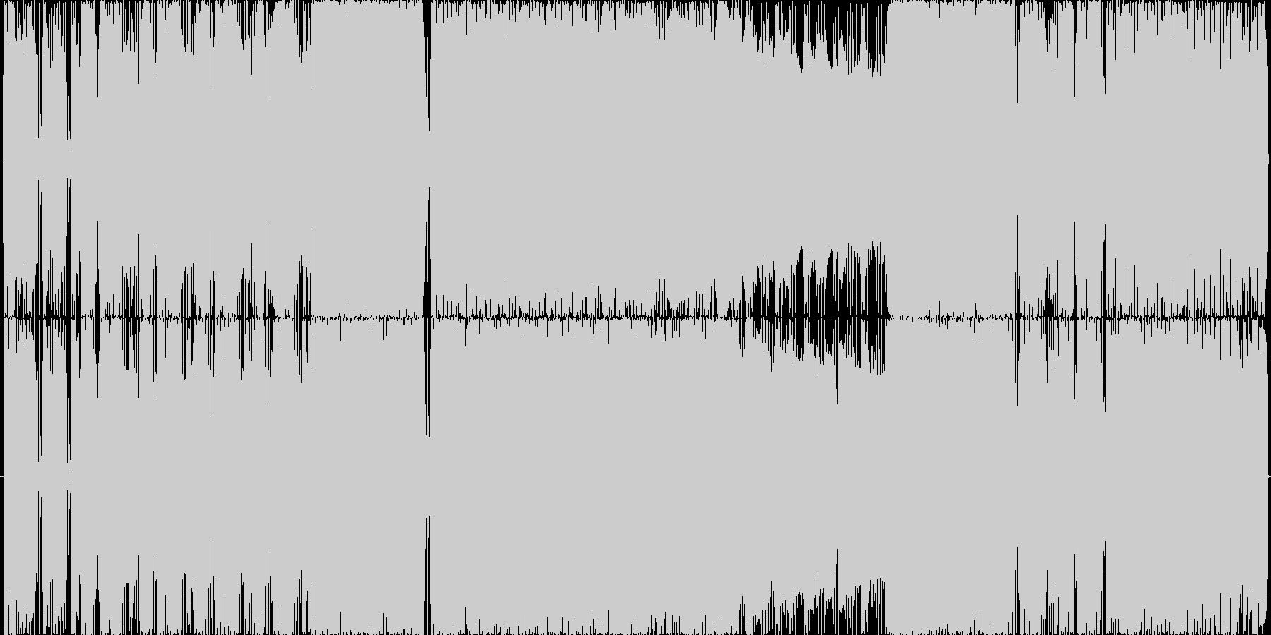 ヘビーメタルインストの未再生の波形