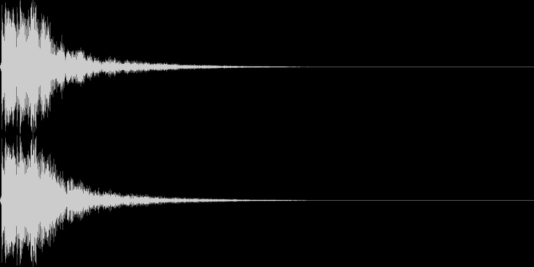 和風ボタン音,決定,キャンセル音(三味線の未再生の波形