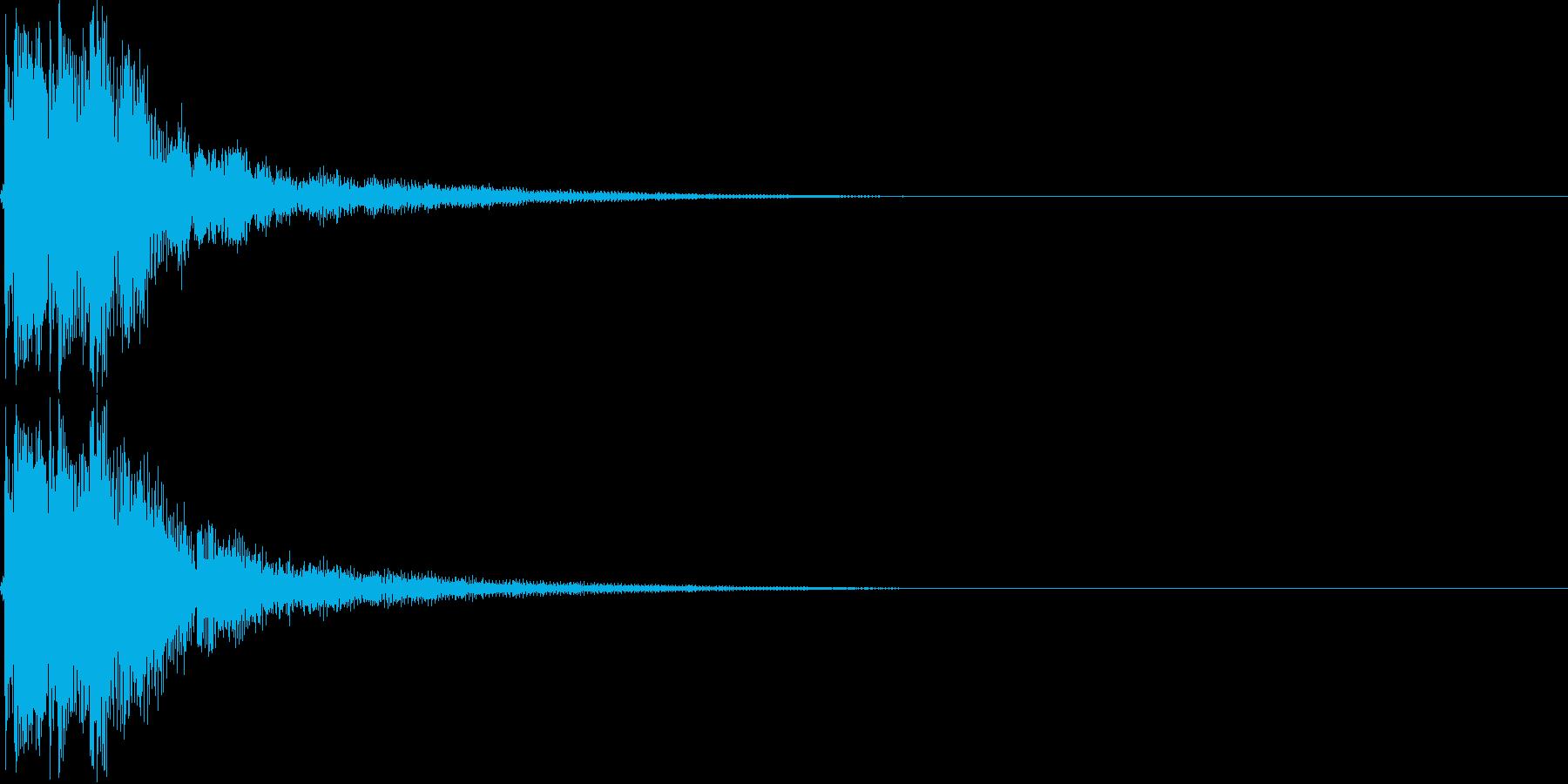 和風ボタン音,決定,キャンセル音(三味線の再生済みの波形
