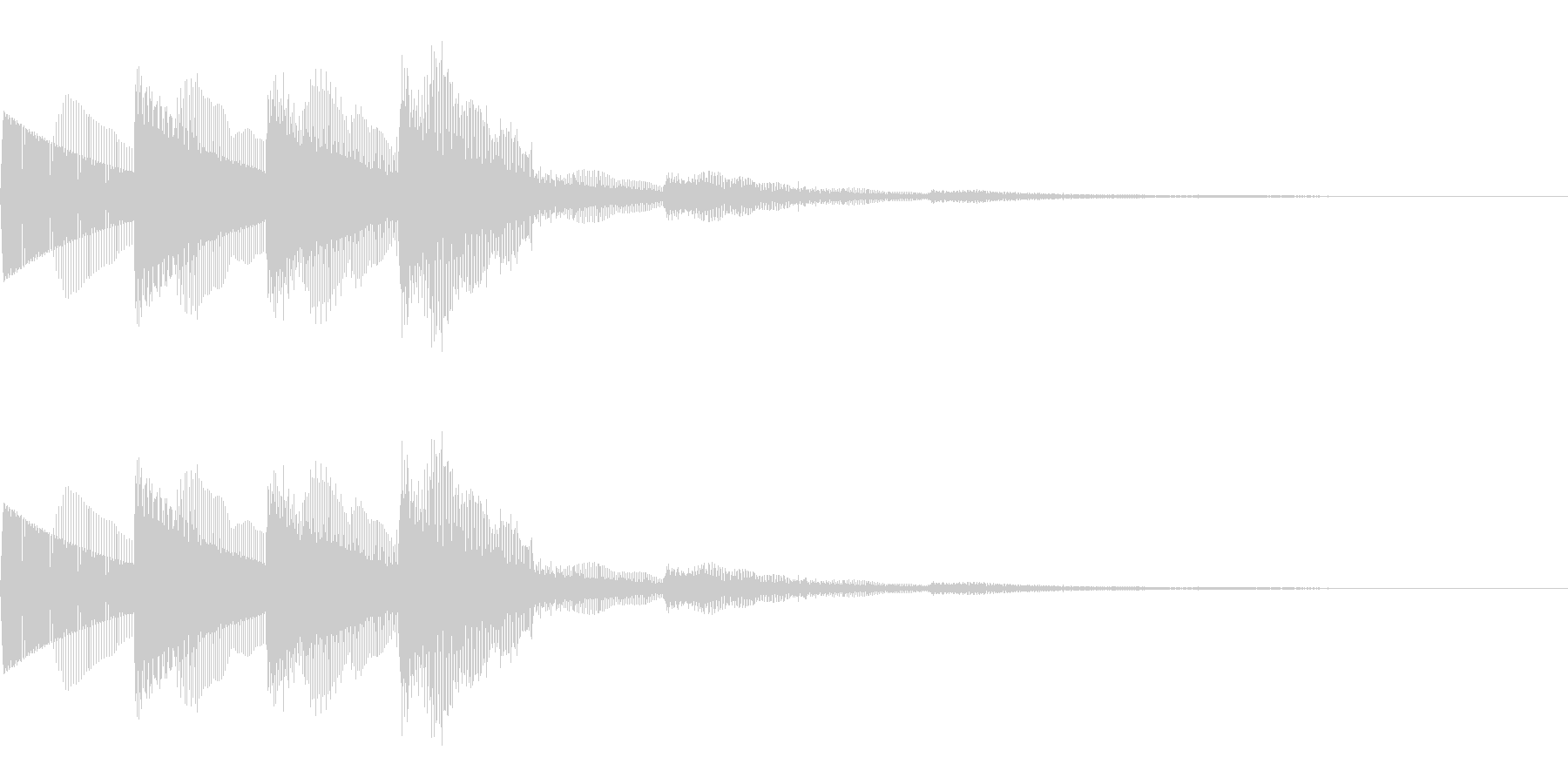 上昇系決定音(音階/シンセ/SF)の未再生の波形