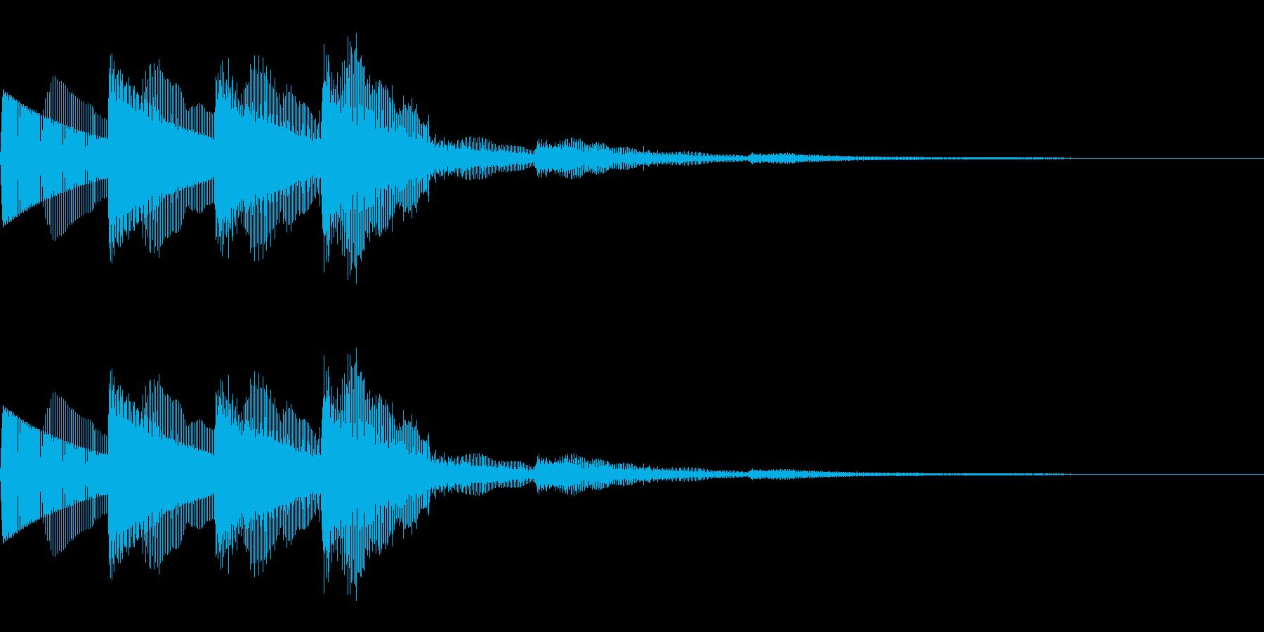上昇系決定音(音階/シンセ/SF)の再生済みの波形