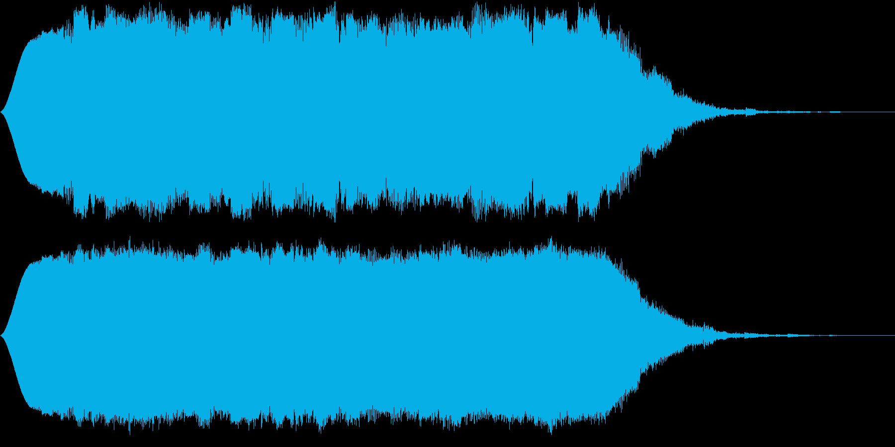 SFな昔のコンピューターの考え中の音の再生済みの波形