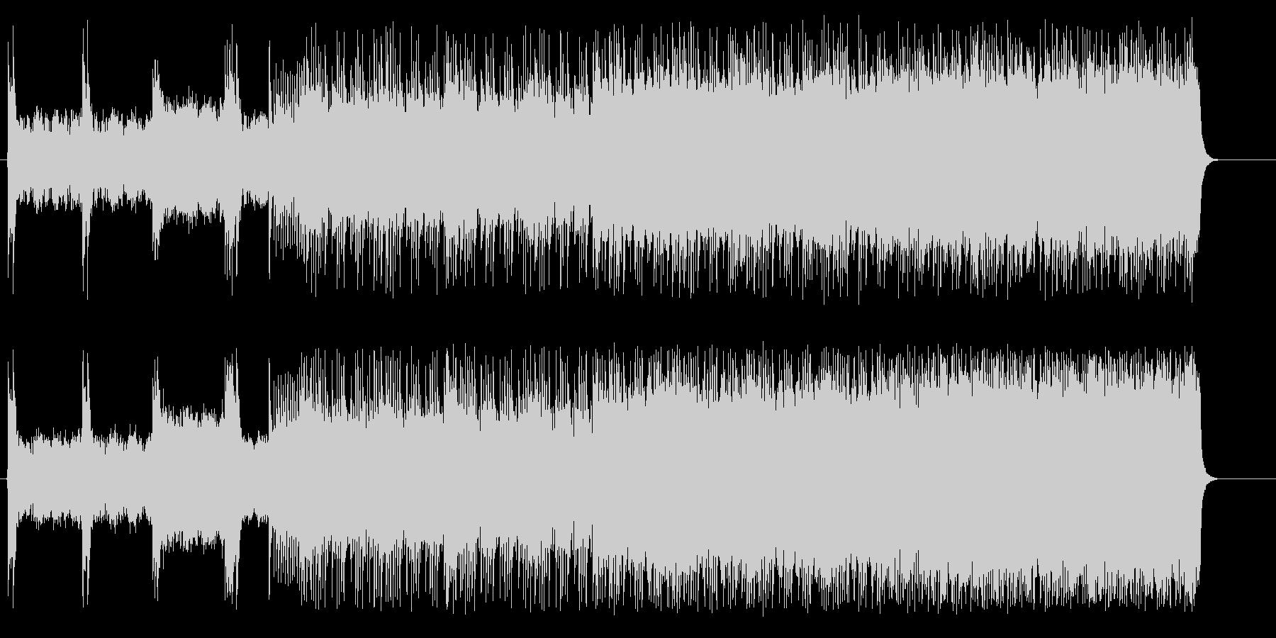 スピードとスリルのヘヴィメタルドライブの未再生の波形